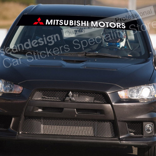 For Mitsubishi Motors Windshield Decal Sticker Pvc In Car Stickers