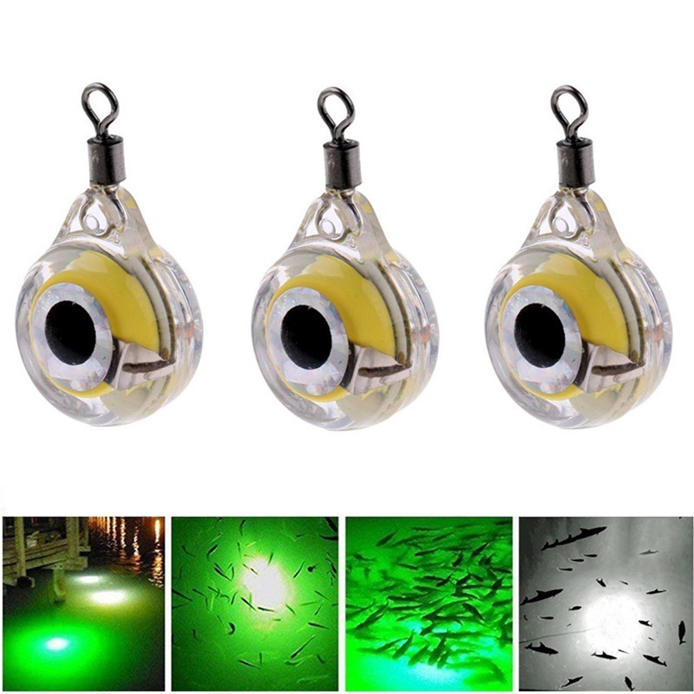 Fishing Lure Night Fluorescent Glow LED Underwater Night Fishing Light Lure for Attracting Fish LED Fishing Supplies #3o30 HS