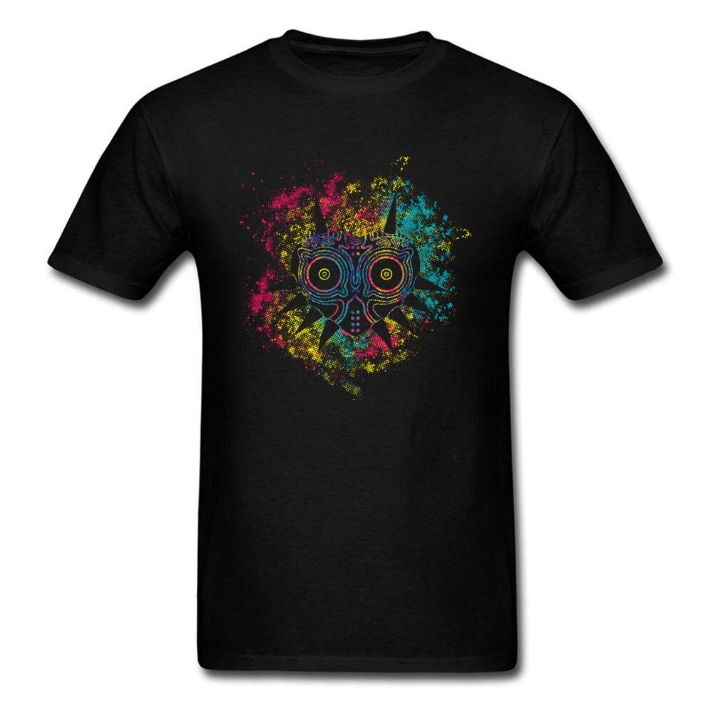 Majoras Mask Legend Of Zelda GG   T  -  shirt   For Men   T     Shirts   2018 Summer Mens Watercolor Anime Clothes Fashion Black