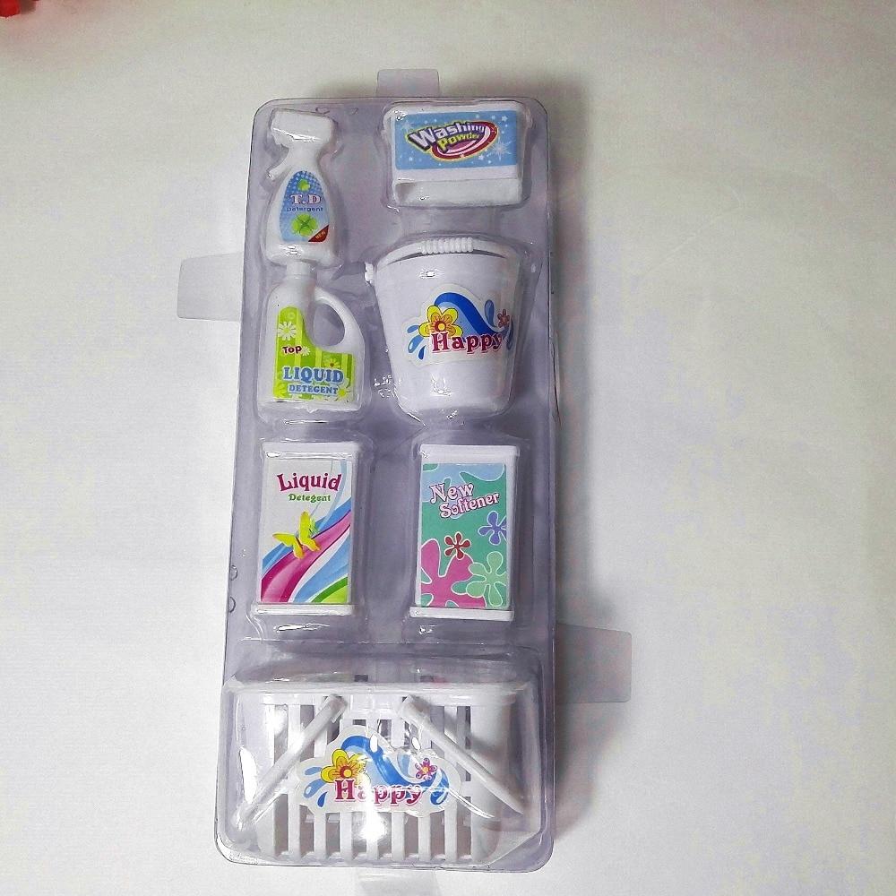 Boîte de butin, seaux, détergents, kit de lavage domestique pour - Poupées et accessoires - Photo 4