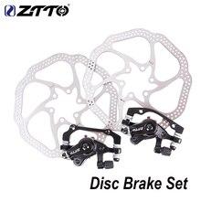 ZTTO MTB велосипедный передний задний тормоз дисковый тормоз для XC горный велосипед механический дисковый тормоз набор с 160 мм роторным тормозным рычагом