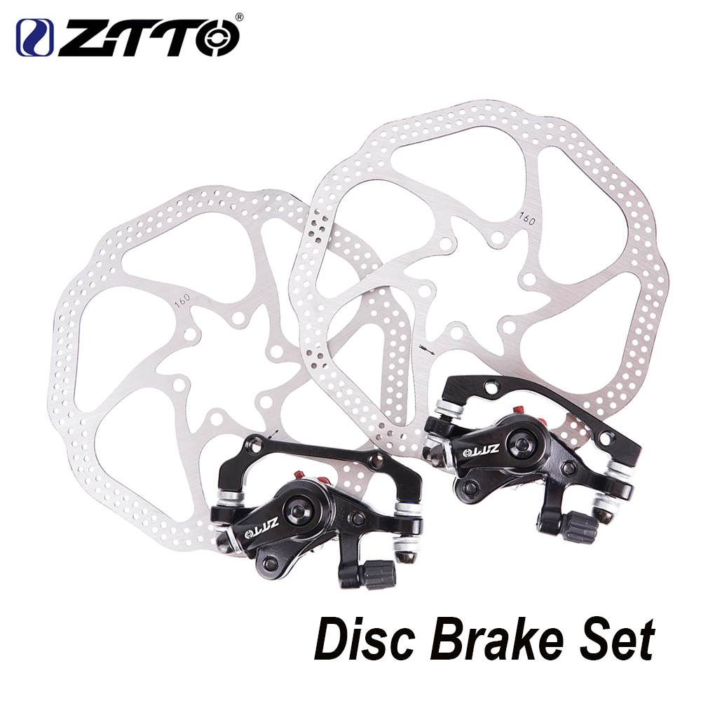 ZTTO MTB Bicycle Front Rear Brake Disc Brake For XC Mountain Bike Mechanical Disc Brake Set with 160mm Rotor Brake Lever