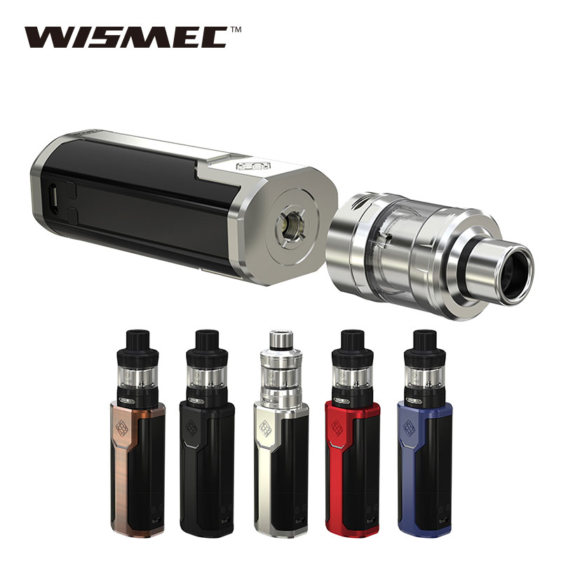 Hot Sale 80W WISMEC SINUOUS P80 TC Vape Kit with 2ml Elabo Mini Tank & Side 0.96-inch Screen No 18650 Battery E Cigarette Vape original wismec sinuous p80 kit with elabo mini tank 2ml 80w max output mod box uses single 18650 battery electronic cigarette