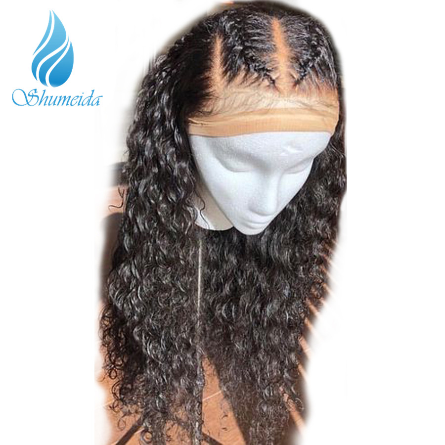 Shumeida Pre Plucked Full Lace Human Hair Wigs With Baby Hair Bleached Knots Brazilian Remy Hair Wigs Curly Human Hair Wig