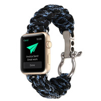 Onthelevel Camouflage Umbrella Strap Nylon Watch Band 42mm 38mm Apple Watch Strap Reloj Watch Accessories for iWatch 1/2/3/4
