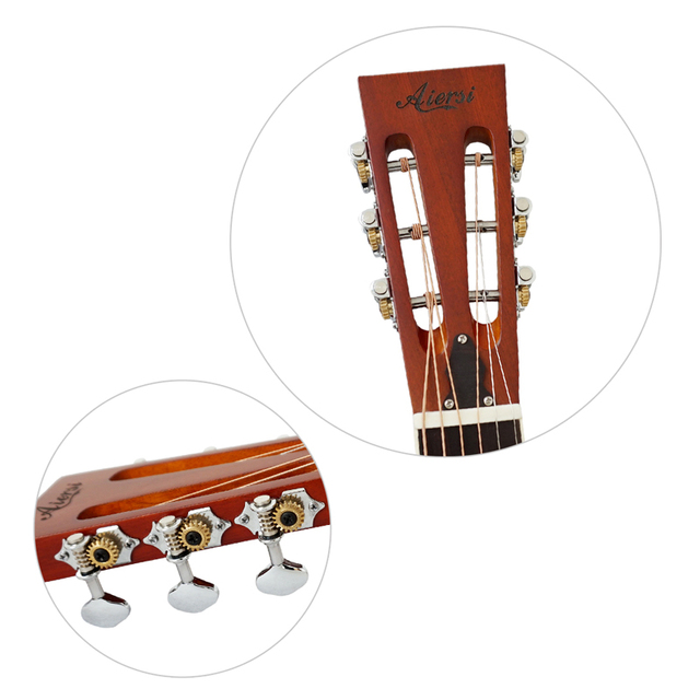 Aiersi Brand Antique Red Rust Bell Brass Metal Tricone Resonator Guitar Free Case and Strap 4