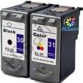 New hot 2 pk cartucho de tinta canon pg-30 cl-31 combo para PIXMA MP140 MP210 MP190 Impressora Frete Grátis Venda Quente jato de Tinta impressora