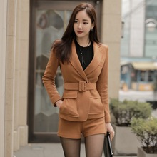 Black And Brown Work Office Pant Trouser Suits For Women Veste Femme Cape Blazer Feminino And Jackets Jaqueta Feminina 2016 New