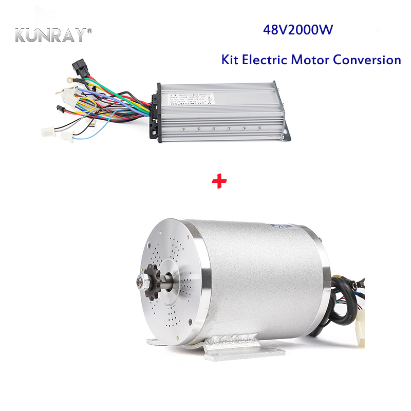 KUNRAY MY1020 <font><b>DC</b></font> <font><b>Motor</b></font> 48V <font><b>2000W</b></font> Kit Electric Conversion E-Bike Scooter Tricycle Cycling Bicicleta Hoverboard Bike Accessories image