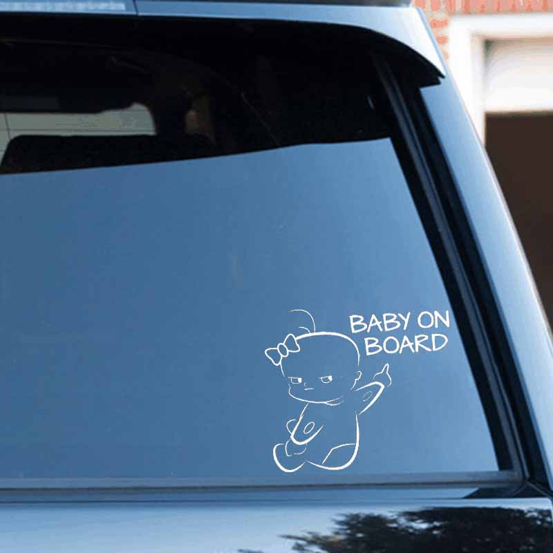 Image 5 - Fashion BABY ON BOARD Car Decor Reflective Warn Sign Vinyl PET Sticker Decal-in Car Stickers from Automobiles & Motorcycles