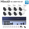 8ch Security Camera System 48V POE 1080P 8PCS Outdoor IP Camera Surveillance System POE NVR Kit