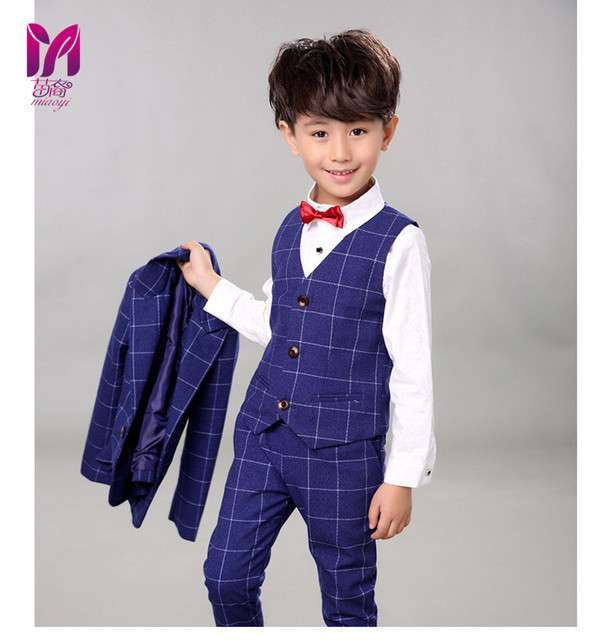 63b914176 5pcs High quality 2017 new fashion baby boys kids boy suit for weddings  prom formal Silvery gray dress wedding boy suits