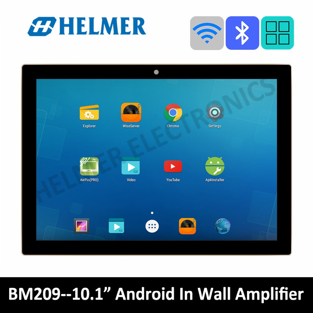 10 touch screen In wall WIFI amplifier home audio system class D digital stereo bluetooth amplifier