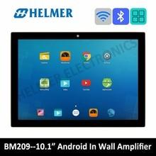 10 «сенсорный экран в стене wifi усилитель, домашняя аудио система, Класс D Цифровой стерео bluetooth усилитель, android домашний кинотеатр
