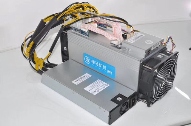 The BTC miner Asic Bitcoin Miner WhatsMiner M1 11.5TH/S 0.17 kw/TH better than Antminer S7 S9,Include psu