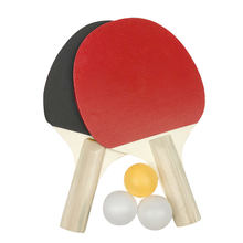 2PCS Table Tennis Rackets With 3pcs Ping Pong Balls Lightweight Powerful Ping Pong Paddle Bat Table Tennis Bats Pimples Out(China)
