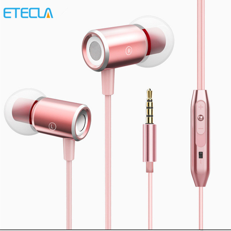 In-Ear Earphone Mini Metal Sport Stereo Music 3.5mm Jack Laptop Dj Bicycle Hifi Headfone For Xiaomi Iphone Huawei Mp3 Phone