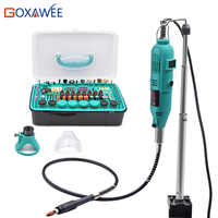 GOXAWEE Electric Mini Drill Power Tools Rotary Tools Accessories with Flex Shaft Hanger For Dremel Stype Drill Mini Grinder Tool
