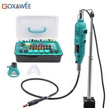 Goxawee elétrica mini ferramentas elétricas broca ferramentas rotativas acessórios com cabo flexível cabide para dremel stype broca mini moedor ferramenta