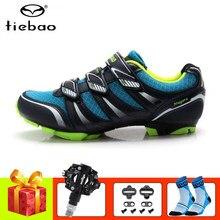 Tiebao-zapatos profesionales para ciclismo de montaña, zapatillas deportivas para exteriores, con bloqueo automático, con pedales SPD