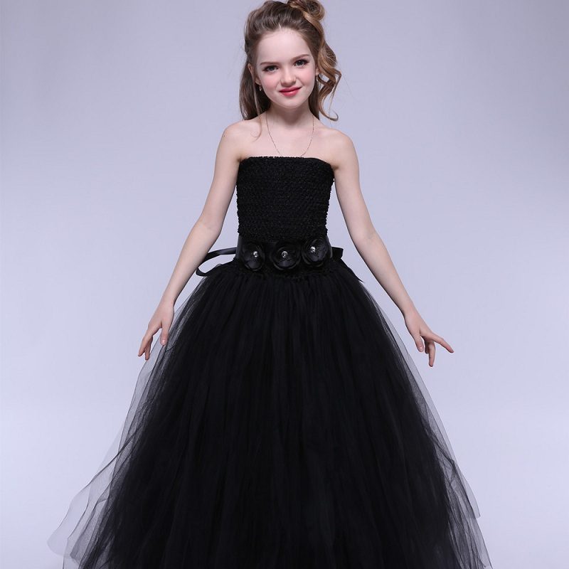 b7e142099510d Girls Princess Formal Dress Mother Daughter Wedding Dress Teenagers Party  Long Tutu Dress Age 6 Months