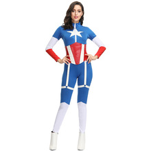 New Arrival Captain America Costume Cosplay Women Superhero For Halloween Adult Carnival Suit