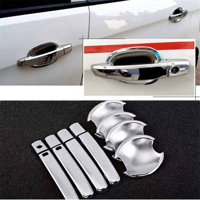 $ 20.99 Non-Rusty Chrome Door Handle Bowl Cover Cup Overlay Trim For Chevrolet Sail3 2015