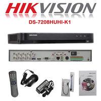 5MP CCTV HIKVISION DVR Recorder 8CH HDTVI AHD CVI CVBS IP Camera DS 7208HUHI K1