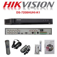 5MP CCTV HIKVISION DVR Recorder 8CH HDTVI AHD CVI CVBS IP Camera DS 7208HUHI K1