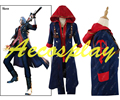 Halloween Men's DMC Devil May Cry 4 Nero Cosplay costume Any Size