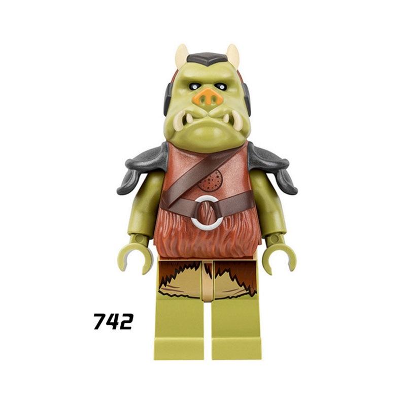 Single Super Heroes Star Wars 742 Ewok Village Gamorrean Guard Building Blocks Figure Bricks Toys Gift Compatible Legoed Ninjaed
