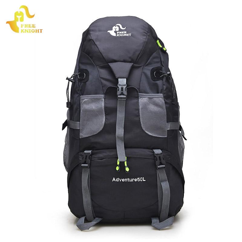 Τσάντα αθλητισμού Σακίδια πεζοπορίας Δωρεάν ιππότης 50L Μεγάλη χωρητικότητα εξωτερική σπορ τσάντα Ορειβασία Camping Travel Σακίδια για Γυναίκες Άντρες