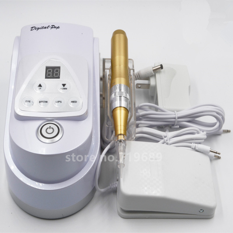 NEW POP Eyebrow Makeup Kits &Lips Rotary Swiss Motor Tattoo Machine Kit Permanent Makeup Machine pen for tam tattoo ink