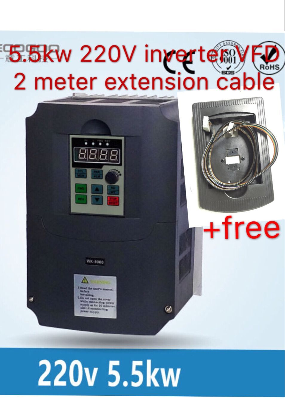 220v 5.5kw  Inverter / VFD1HP or 3HP Input 3HP Output CNC spindle Driver spindle speed control