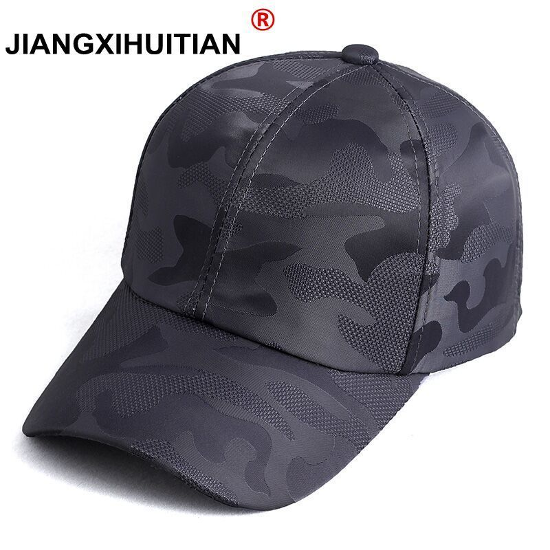 2018 Summer Mens Army Camouflage Camo   Cap   Cadet Casquette Desert Camo Hat Mesh   Baseball     Cap   Hunting Fishing Blank Desert Hat