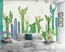 beibehang Custom Mural Wallpaper hand-painted American pastoral cacti living room TV children background wall 3d wallpaper