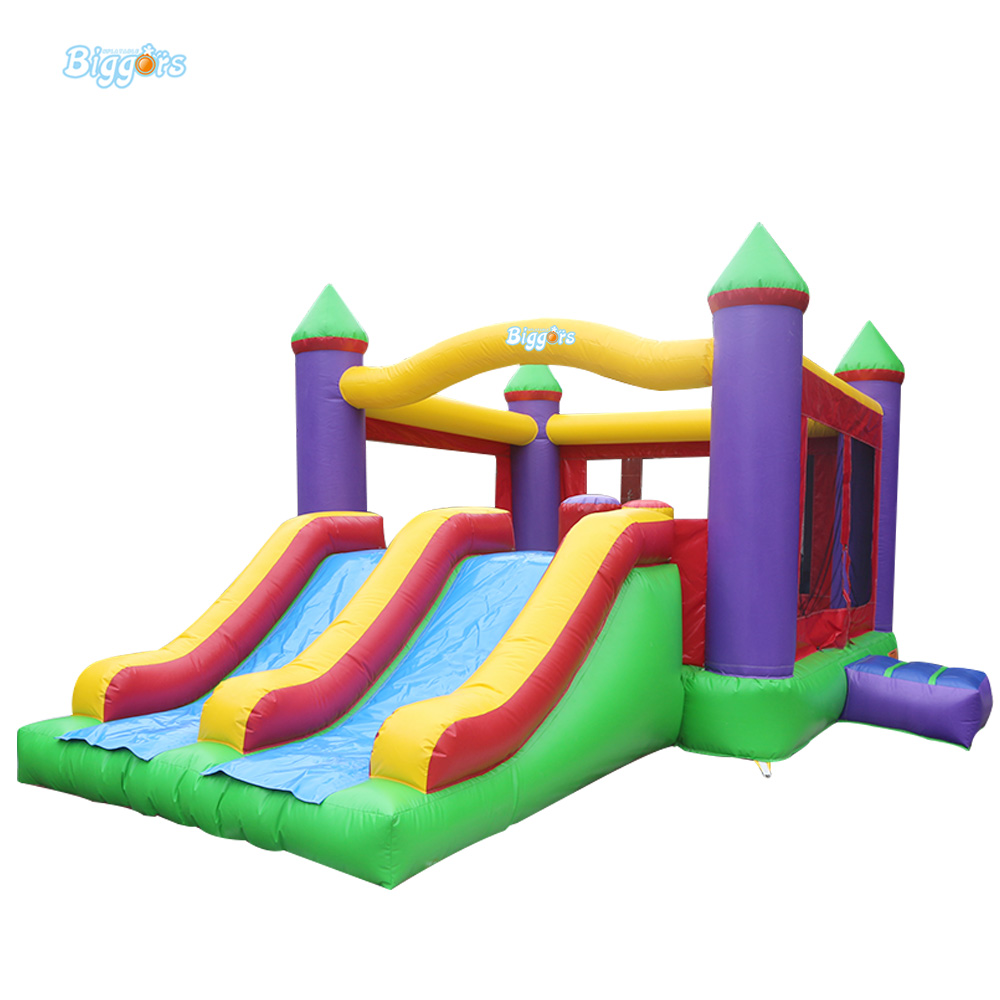Free Sea Shipping Commercial Cheap Inflatable Jumping Bouncy Castle with Double Slides free shipping by sea popular commercial inflatable water slide inflatable jumping slide with pool