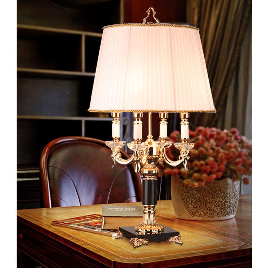 Table lamp bedroom bedside lamp European crystal model ...