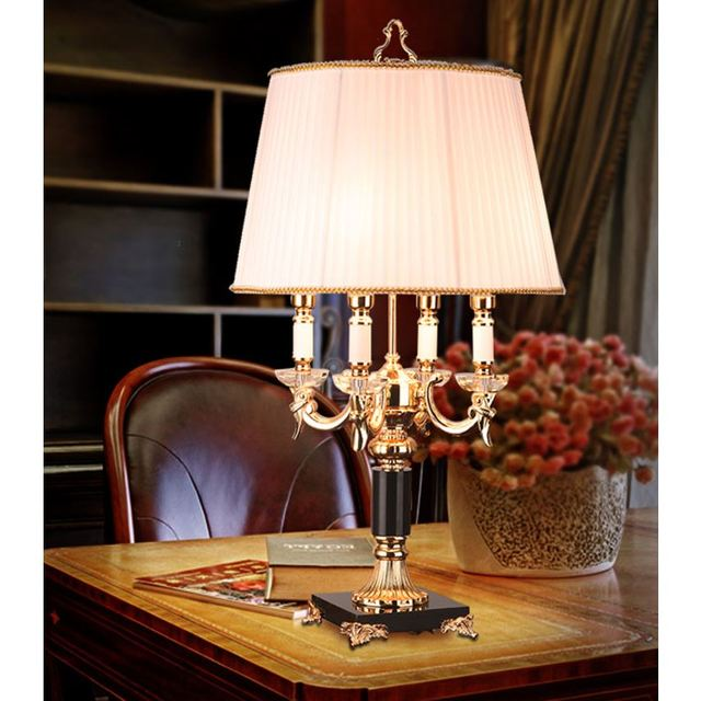 Tischlampe Schlafzimmer Nachttischlampen Europäischen Kristall Modell  Zimmer Großes Luxus Amerikanische Hochzeit Warme Schwarz Weiß LU728314