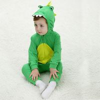 Green Dinosaur Baby Suit Outdoor Set 100 Cotton Spring Baby Rompers Animal Outerwear For 1 2