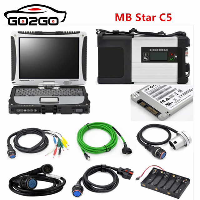 New Price 2018 NEW! MB Star C5 SD CONNECT 5 + New 05/2018 Software HDD + CF-30 4G Diagnostic laptop CF30 Auto Diagnostic tool ready to use