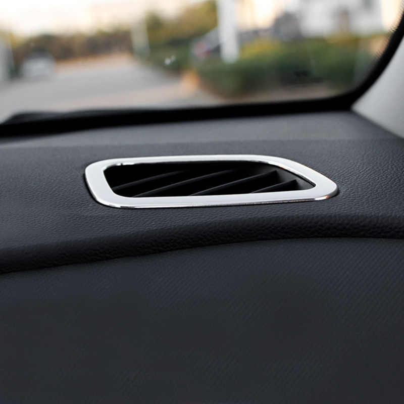 ملحقات داخلية vالمسيل للدموع لسيارة Hyundai Creta ix25 لوحة القيادة 2018 2019 مكيف الهواء بتفريغ منفذ غطاء إطار الكسوة كروم