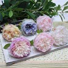 10Pcs big Peony flower head Artificial DIY headwear silk wall decoration rose simulation flores