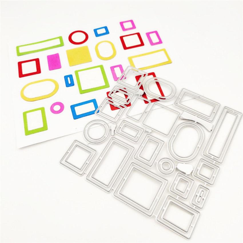 3D Square Geometric Set Metal Cutting Dies Scrapbooking Album DIY Card Craft Embossing Die Cuts New 2019 Arrival
