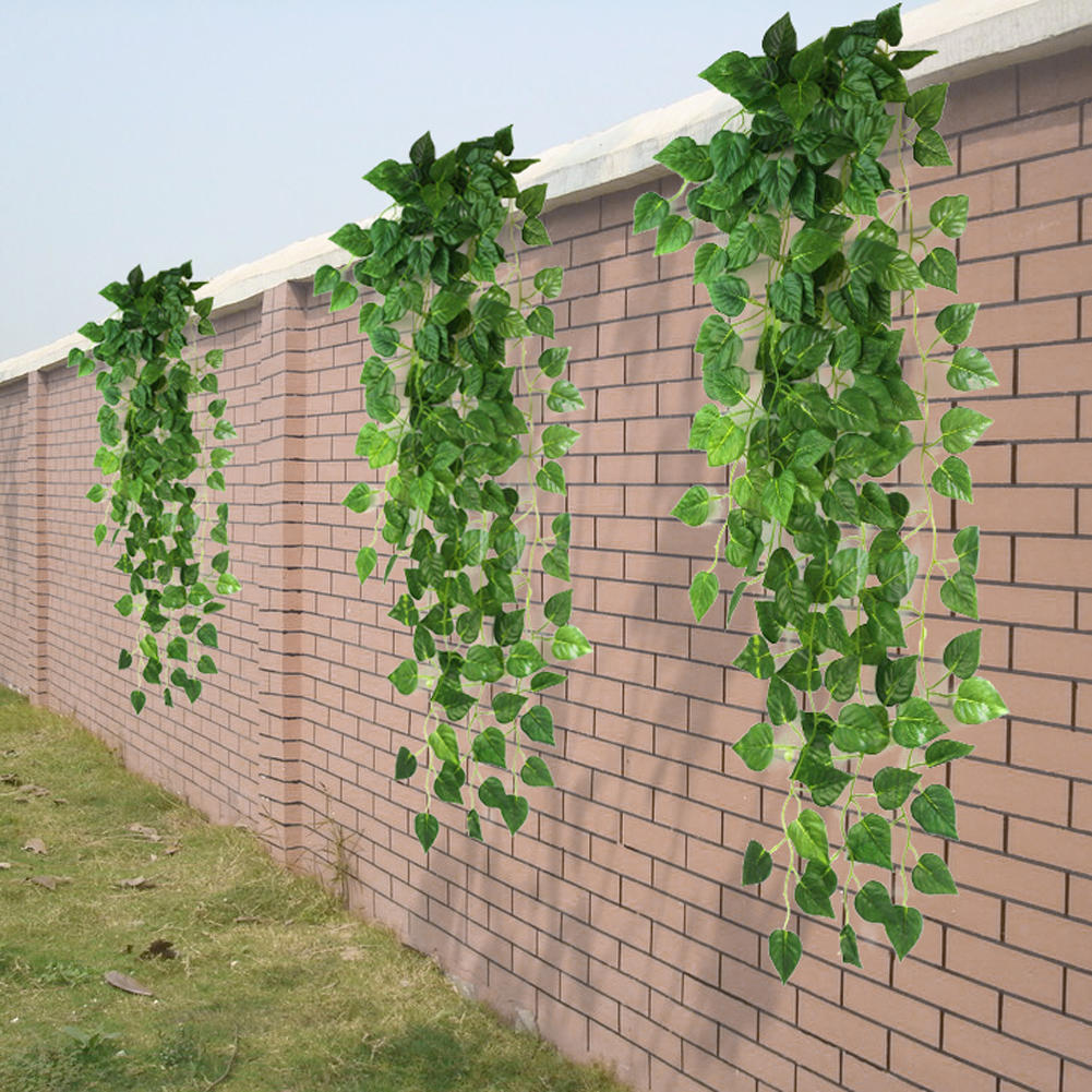 Artificial Fake Green Hanging Vine Plant Leaves Garland Wall ...