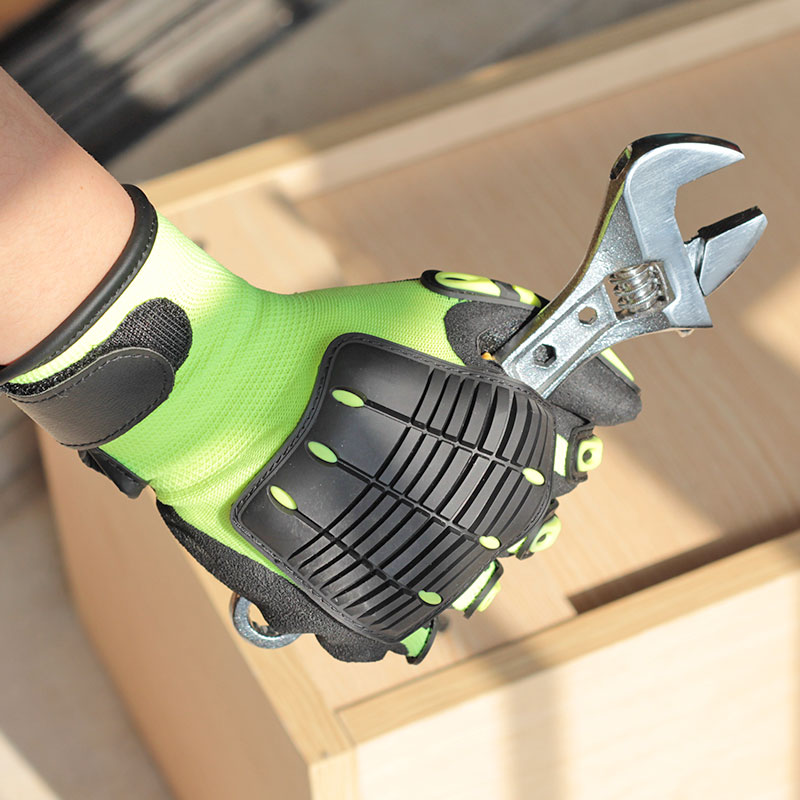 NMSafety 1 Pack Shock Absorbing Work Gloves Mechanic Impact Gloves