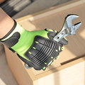 NMSafety 1 Pack Shock Absorbing Work Gloves Mechanic Impact Gloves.