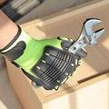 Nmsafety 1 pacote de absorção de choque luvas de trabalho mecânico luvas de impacto.