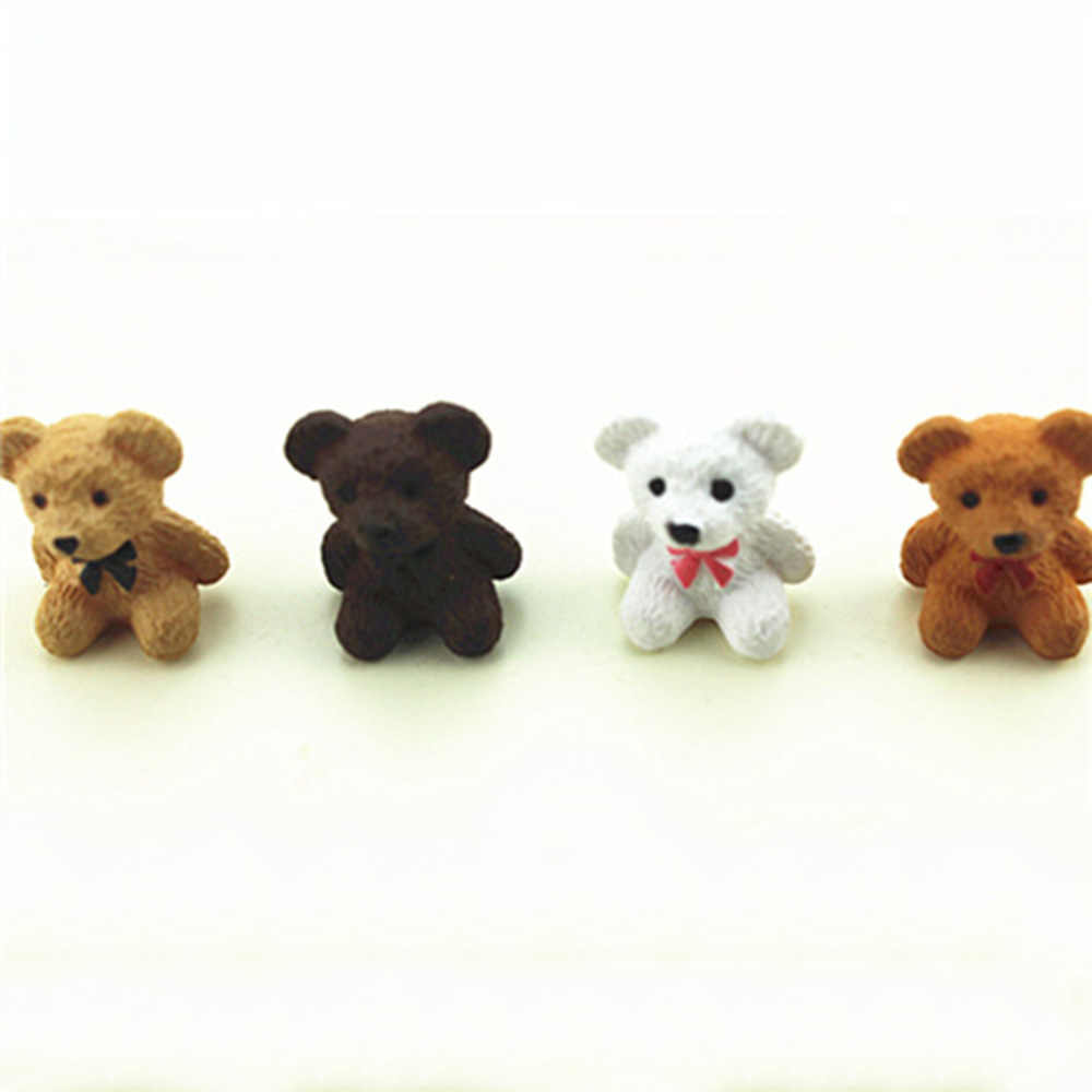1Pcs 1/12 Dollhouse Miniature Accessories Mini Bear Simulation Miniature Animal Toy Furniture for Doll Home Decoration