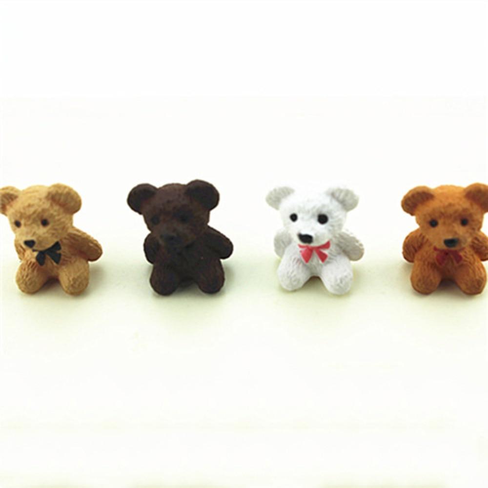 1Pcs 1/12 Dollhouse Miniature Accessories Mini Bear Simulation Miniature Animal Toy Furniture For Doll Home Decoration